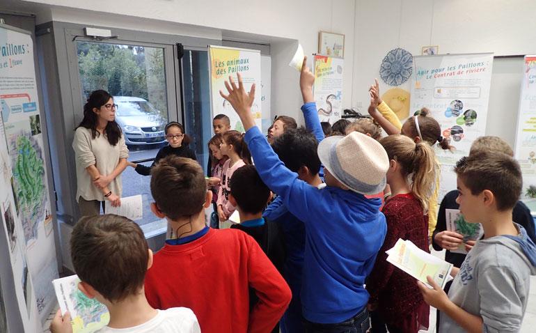 Exposition itinérante des Paillons - Classe de l'école Félix Colomas
