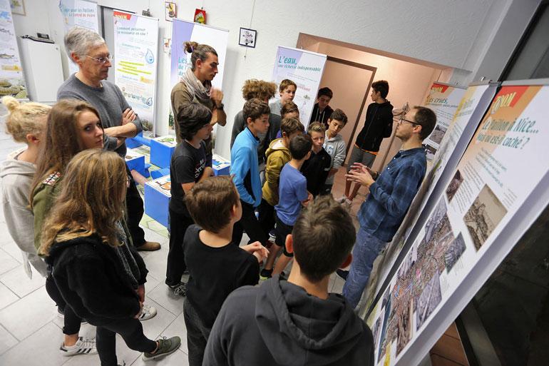 Exposition itinérante des Paillons : intervention auprès des ados de la Maison des jeunes de Colomars