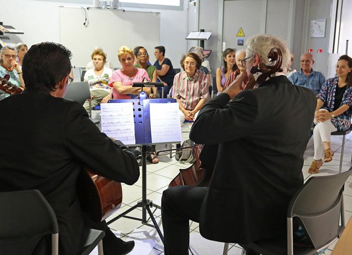 Aidants et aidés de la Halte-Répit Musicale