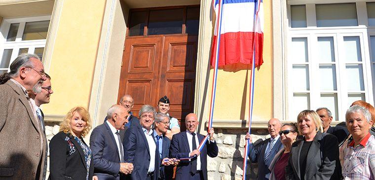 Les façades de l'Hôtel de Ville de Tourrette-Levens inaugurées