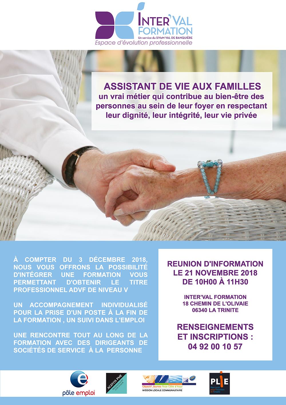 REUNION D'INFORMATION - Assistant de vie aux familles