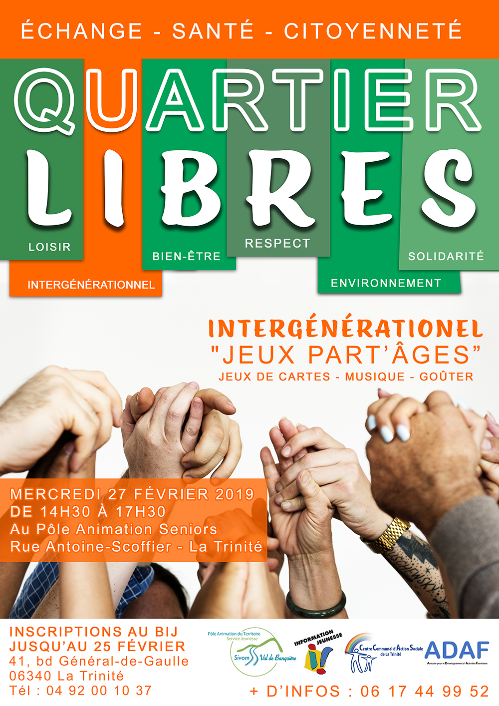 Inscriptions : Quartier Libres