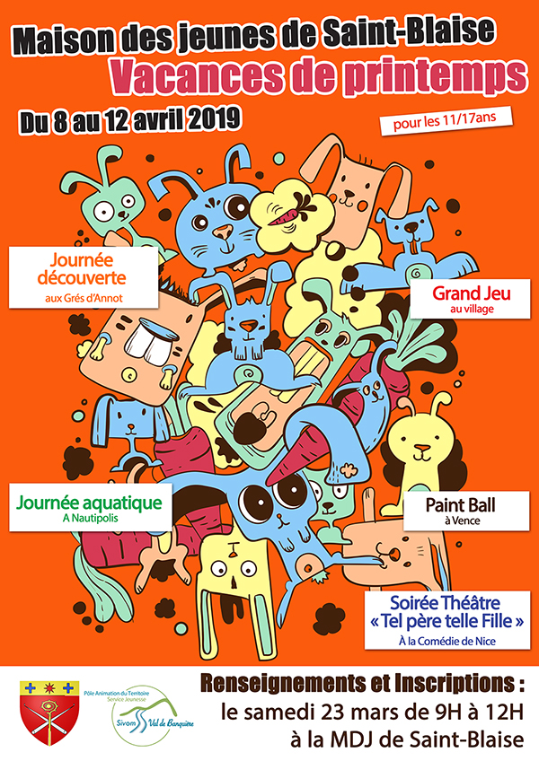 Inscriptions vacances de printemps : Saint-Blaise