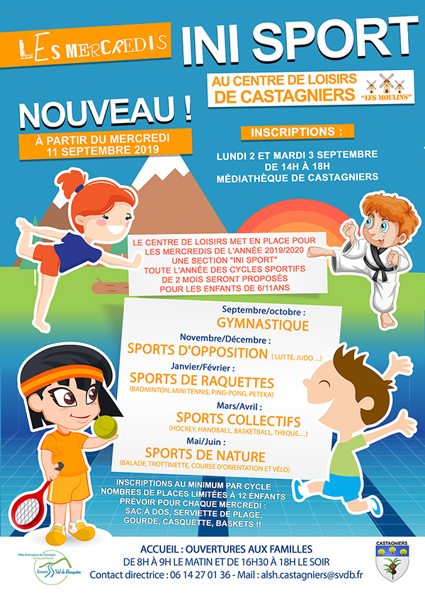 Inscriptions - mercredis ini sport