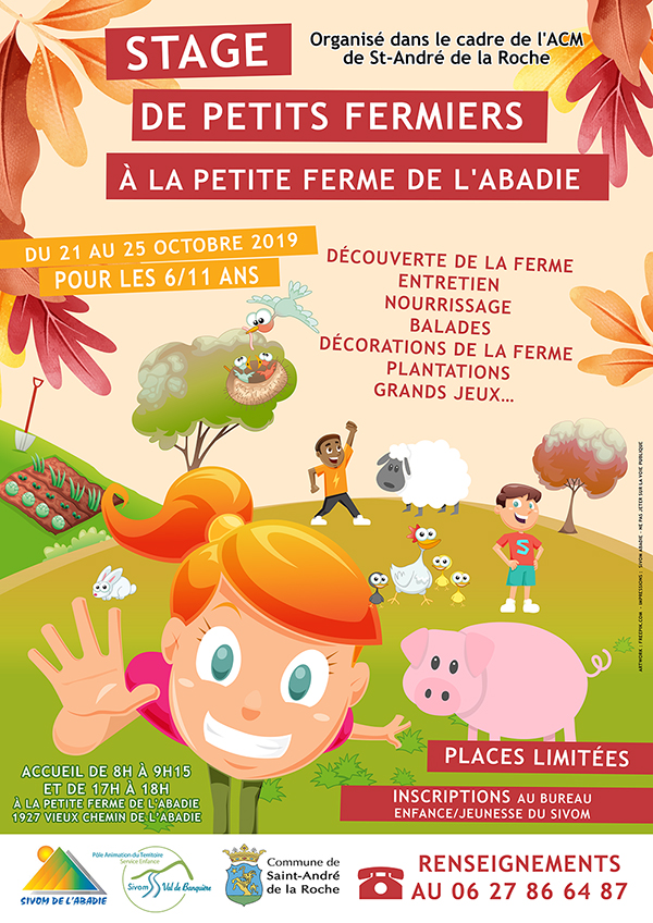 Inscriptions : Stage Petit Fermier