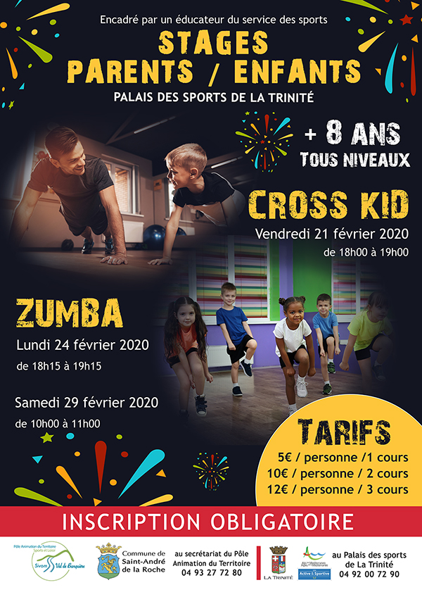 Stage cross kid & zumba parents/enfants