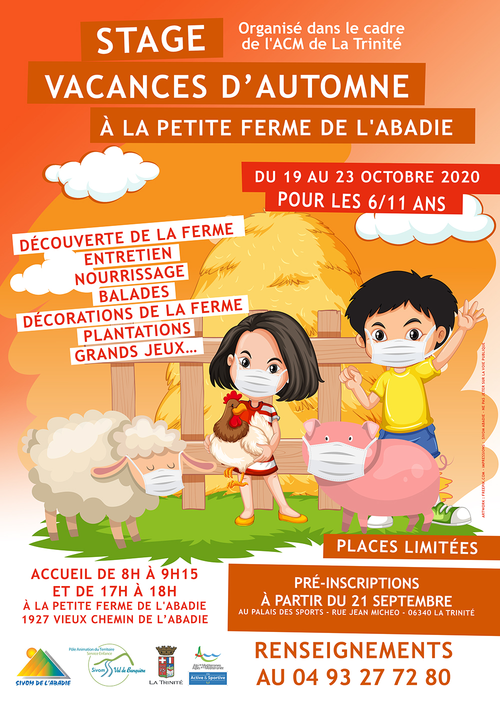 Inscription stage Petit Fermier
