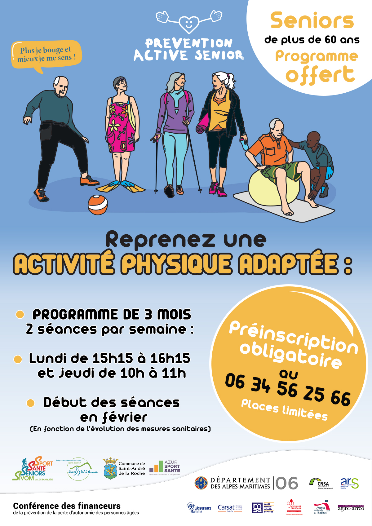 Inscription : Prévention Active Senior