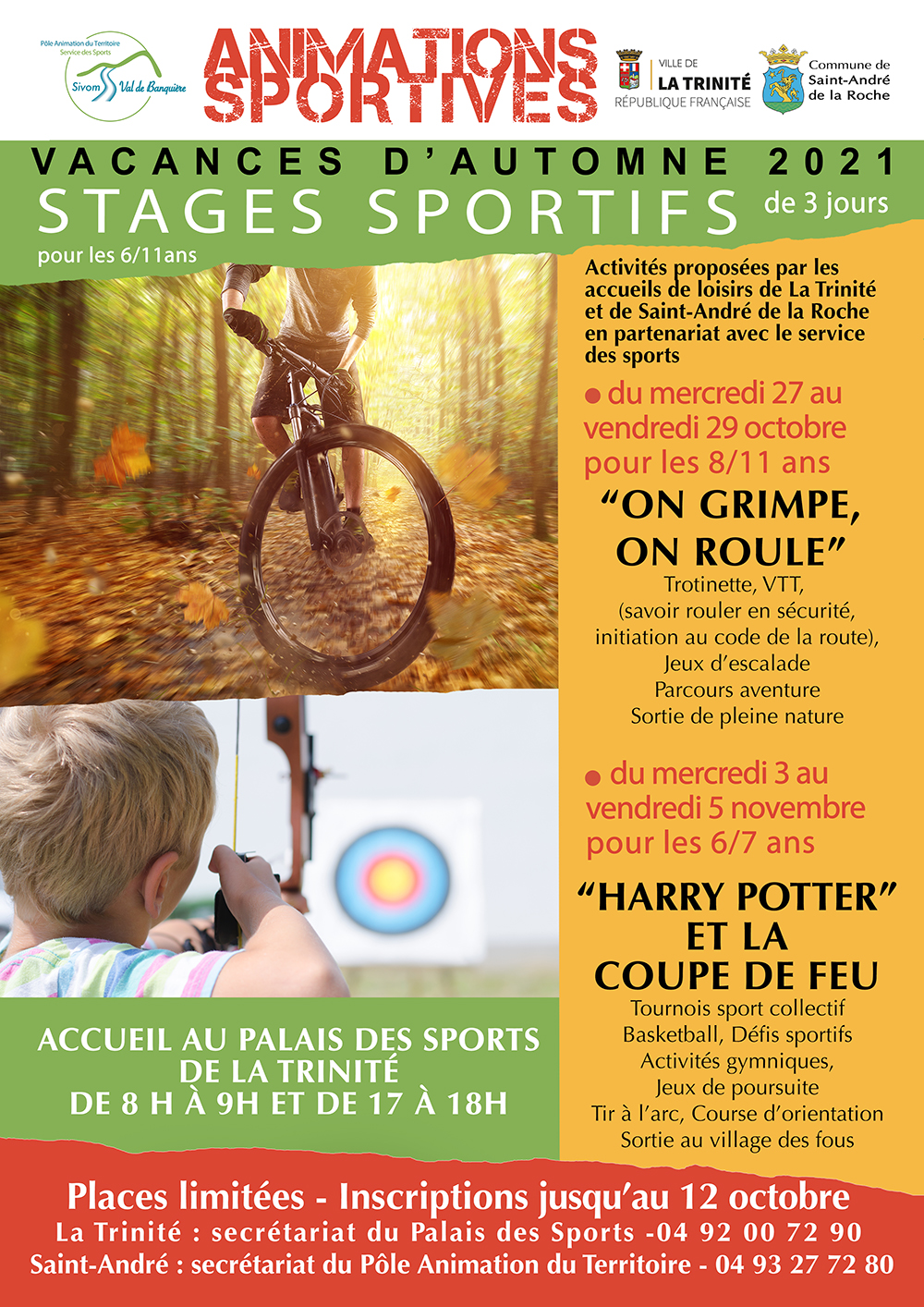 Inscriptions stages sportifs